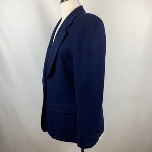 Vtg 1970s Pendleton Women's Navy Wool Blazer